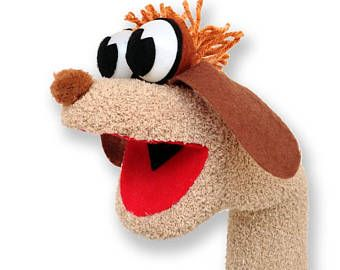 Sock Puppet Hand Puppet With Moving Mouth Fun