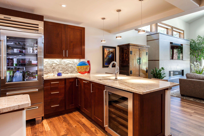 Large glass door stainless steel refrigerator   Kitchen ...