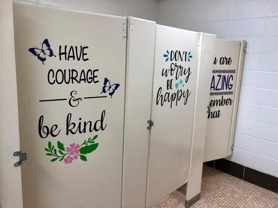 School Bathroom Inspirational Quotes School Bathroomdecor Schooldecor Quotes Inspiration Sayings Bathroomd School Bathroom School Quotes School Restroom