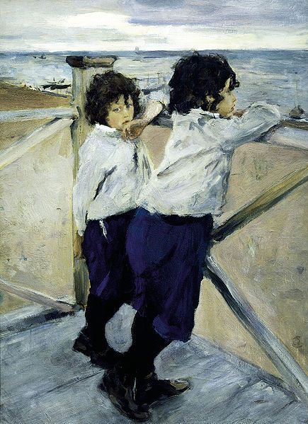 Children. Sasha and Yura Serov. 1899. Oil on canvas. The Russian Museum, St. Petersburg, Russia. Valentin Serov