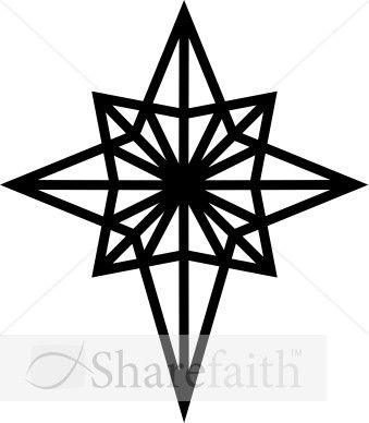 Black And White Epiphany Star Clipart Epiphany Clipart Star Clipart Clip Art Christmas Star