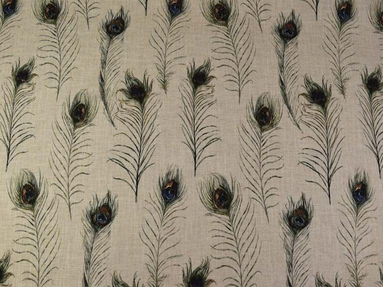 Clarke Pea Feathers Linen Curtain And Upholstery Fabric Available From Our Online Or Warehouse In Northamptonshire
