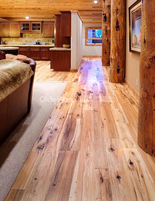 Reclaimed Hickory Flooring Wide Plank Olde Wood
