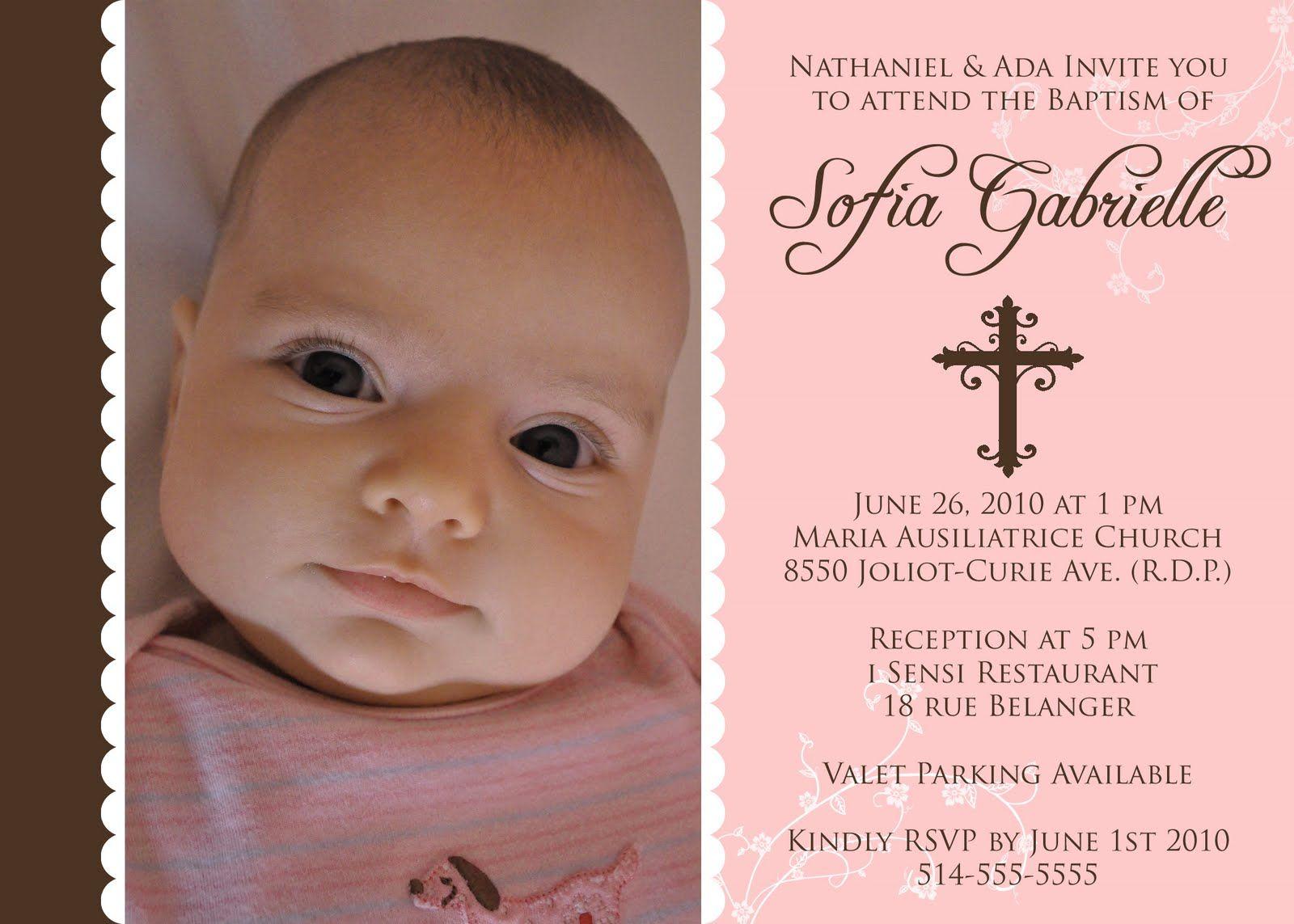 Baptism Girl Invitations | Lupe Baptism Dress | Pinterest | Pink ...