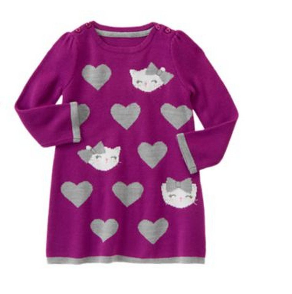 7e1ca14b1af1 NWT New Gymboree SWEATER WEATHER purple kitty cat sweater dress baby girl  2T #Gymboreeretail #DressyEveryday
