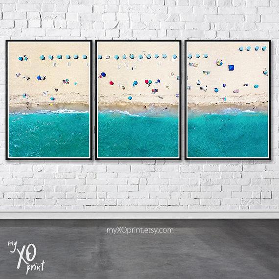 Set Of 3 Print Tropical Beach Beach Wall Art Decor Printable