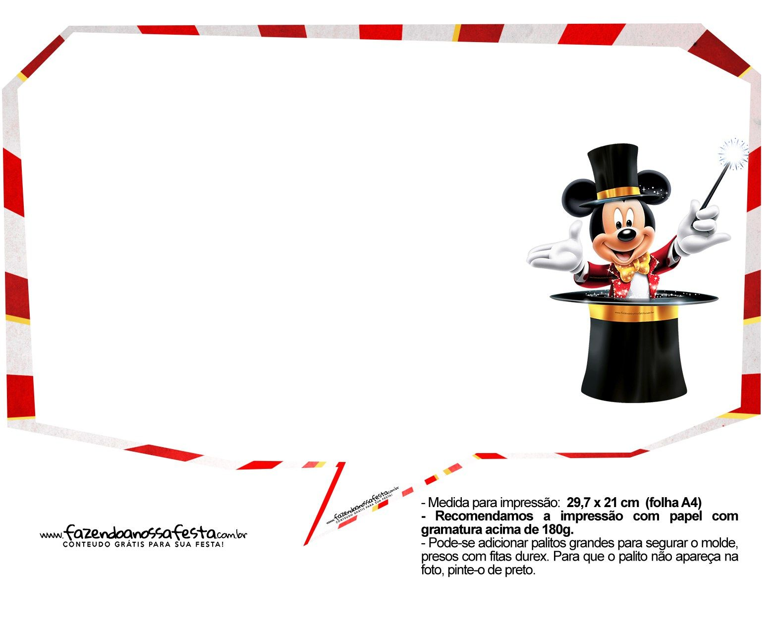 Plaquinhas Divertidas Mickey Circo 23 Circo Do Mickey Placas