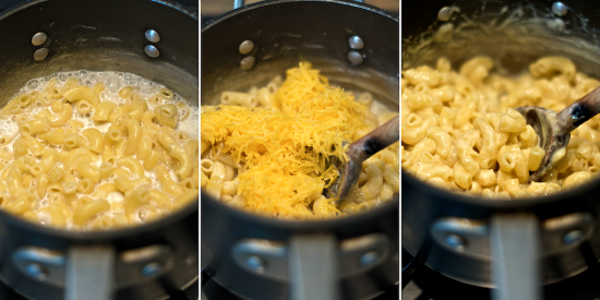 life-changing mac & cheese is worth the 15 minutes by the stove. You won't believe how rich and creamy it is with NO butter, NO cream, and NO Velveeta in the recipe. (Boil noodles in milk!)