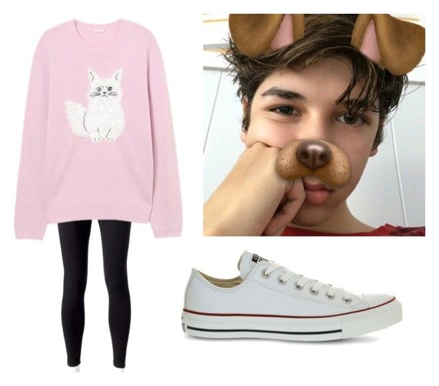 """""""shopping with mario"""" by haleybarone ❤ liked on Polyvore featuring Jockey and Converse"""