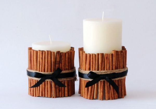 DIY Cinnamon Candles