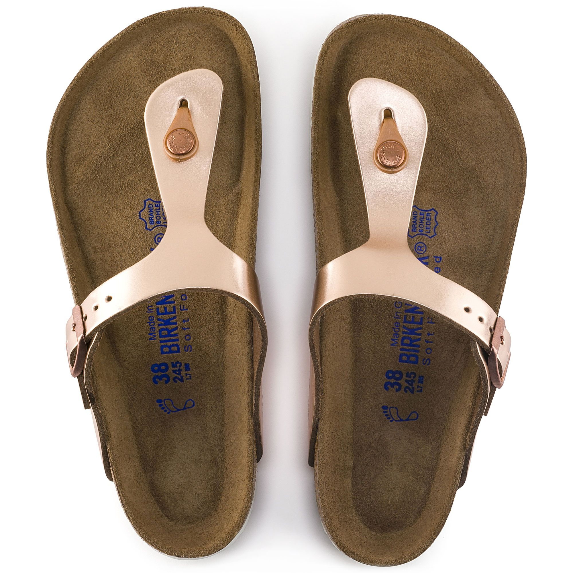 Gizeh Natural Leather | Birkenstock, Rose gold birkenstocks
