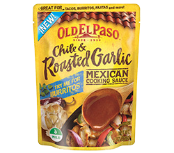 Mexican Cooking Sauce - Chile Roasted Garlic. I love adding shredded roasted chicken  and a few other ingredients.