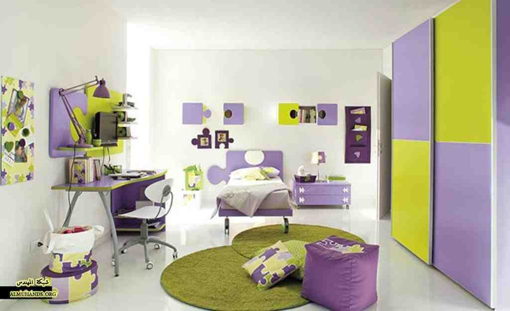Purple and Green Bedroom Ideas | Purple bedroom design, Kids ...