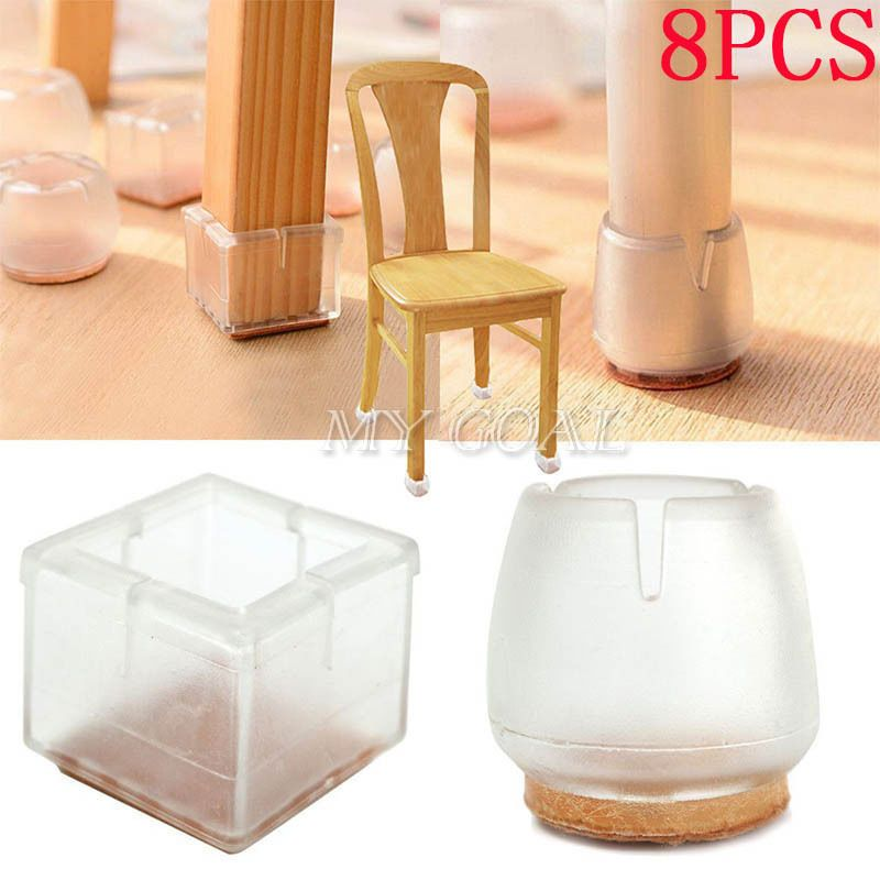 8x Chair Leg Feet Silicone Caps Pad Floor Protector