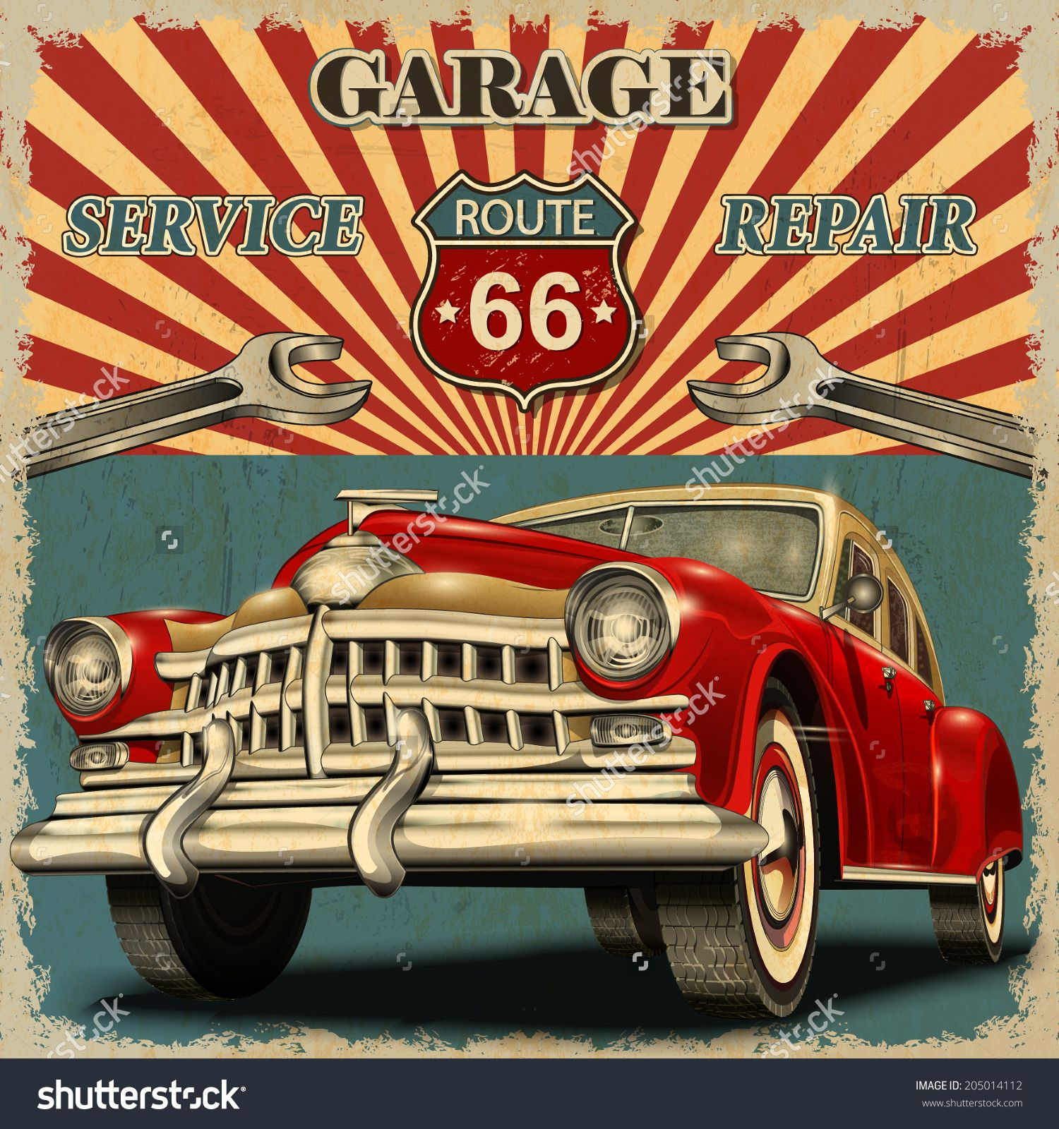Poster vintage music pesquisa google imagens for Garage route 66 metz