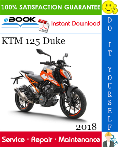 2018 Ktm 125 Duke Motorcycle Service Repair Manual Ktm Ktm 125 Duke Duke Motorcycle