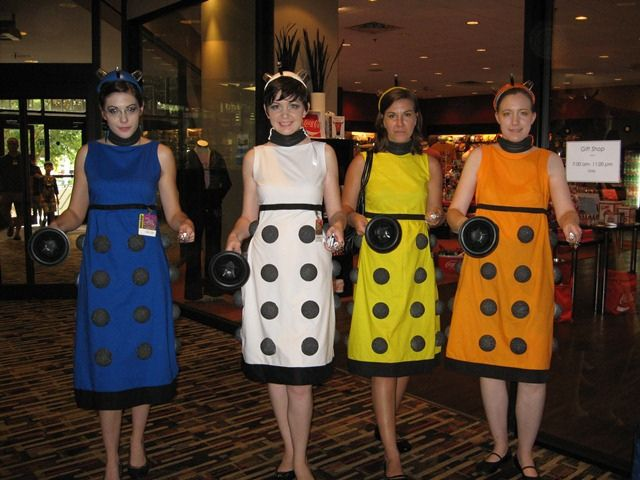rainbow daleks by auntiemeesh, via Flickr