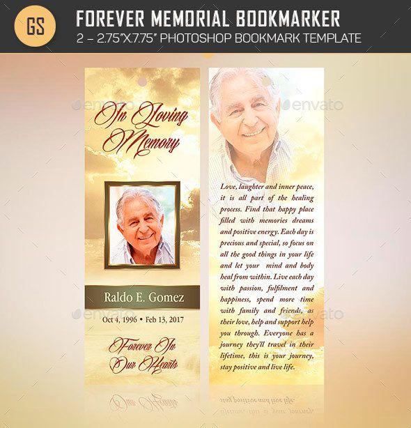 Forever Memorial Bookmark Template