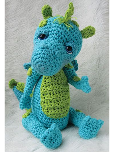 Now You Can Add A Gentle Dragon To Your Crocheted Animal
