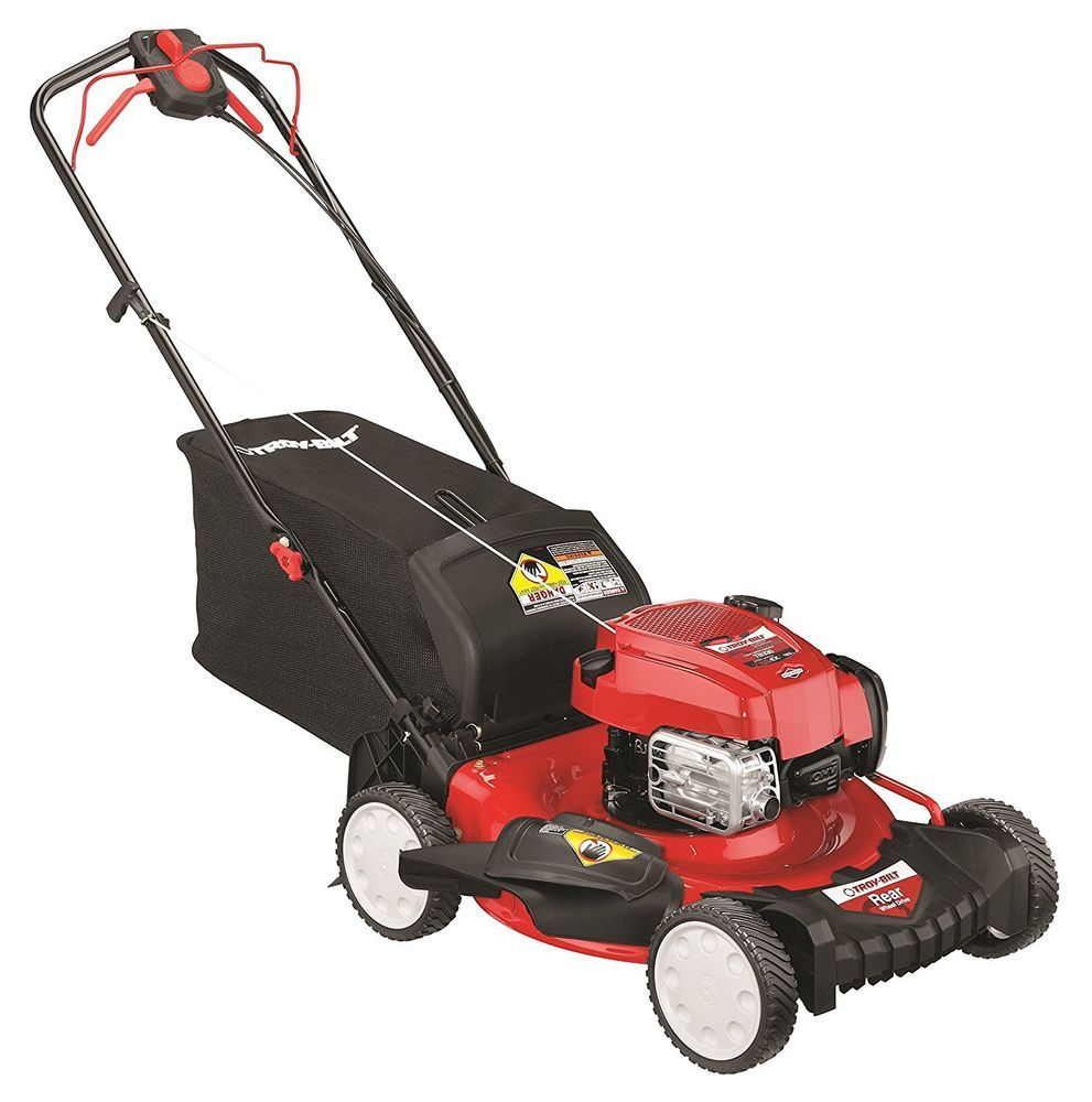 Troy Bilt Tb330 163cc 21 Inch 3 In 1 Rear Wheel Drive Self Propelled Lawnmower Troybilt Best Lawn Mower Lawn Mower Push Lawn Mower