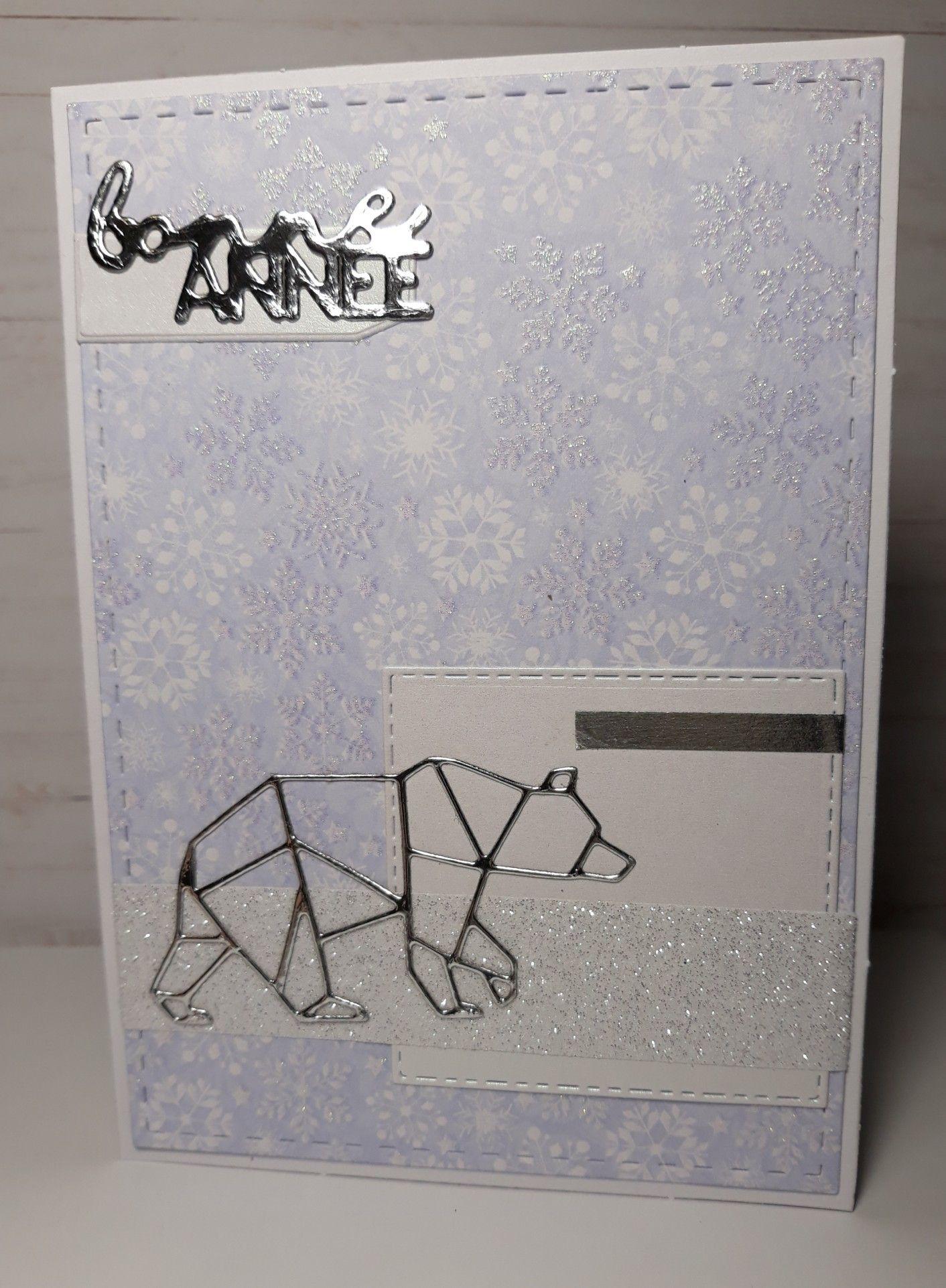 carte de voeux nouvelle année / ours origami | créas diverses