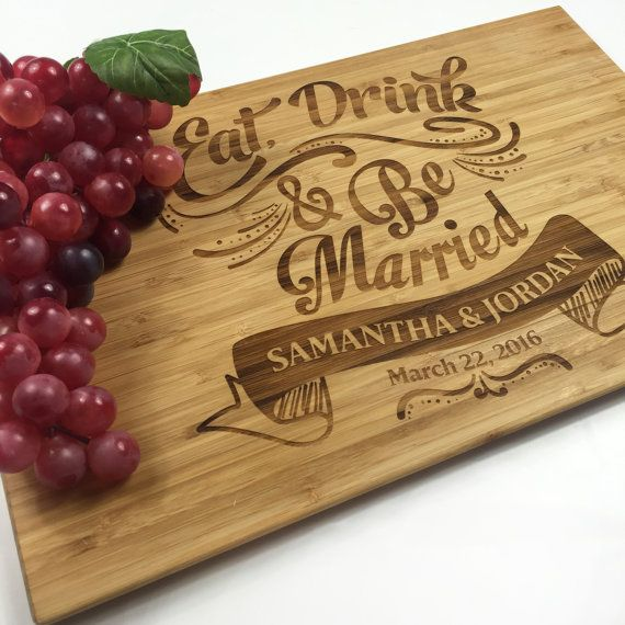 Cutting Board Personalized Wedding Gift Board Eat Drink And Be