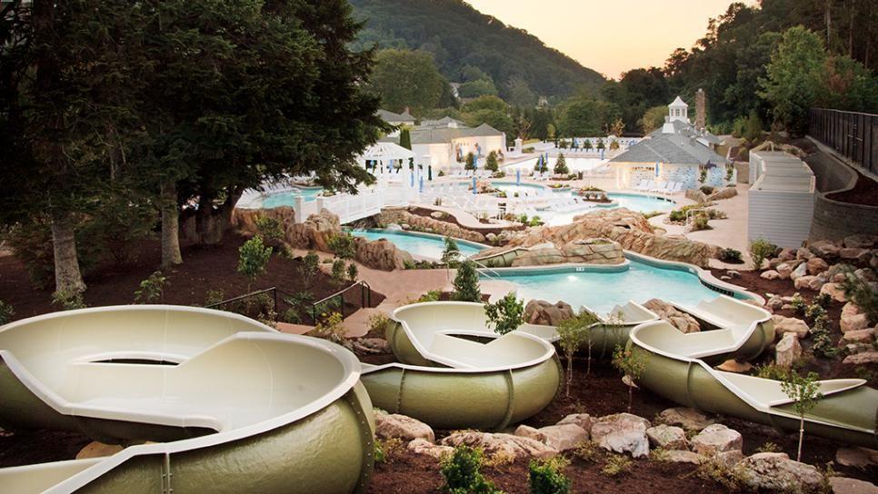 Omni Homestead Resort Pool Slides Hot Springs Virginia