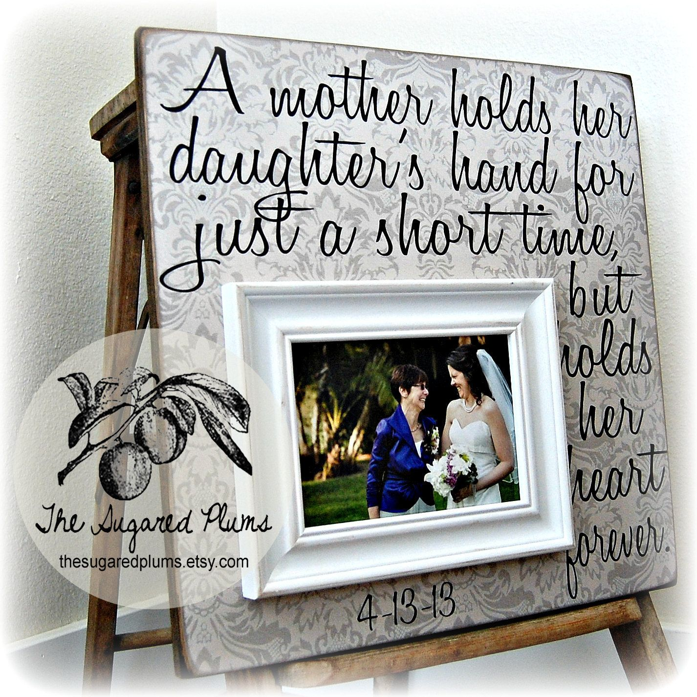 Wedding Gift For Bride From Mother: Card From Mother To Daughter On Daughter's Bridal Shower