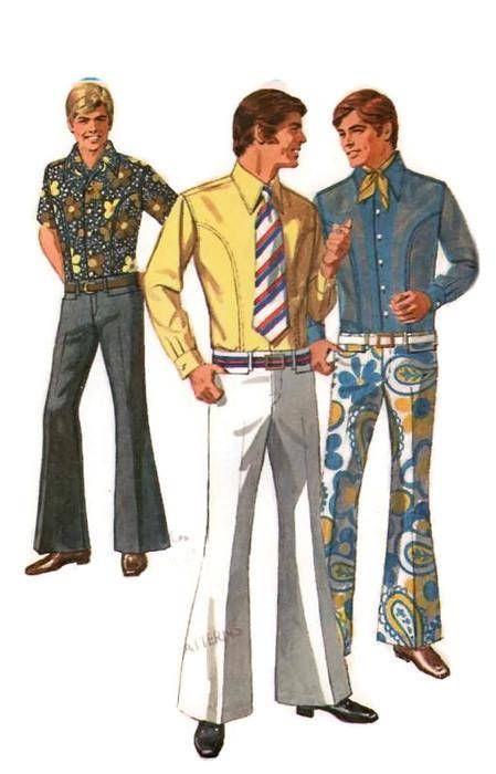 487f9f435ed12 Simplicity 8255 Men's Sewing Pattern Retro 70s Dress Business Shirt ...