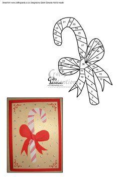 Christmas Candy Cane Iris Folding Pattern  Iris Folding Cards