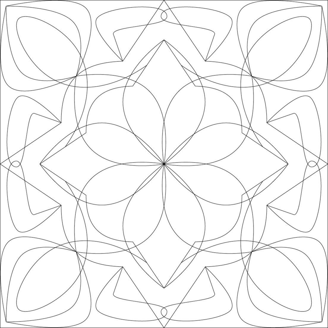 Free Motion Framework Full Size Pattern Sheets