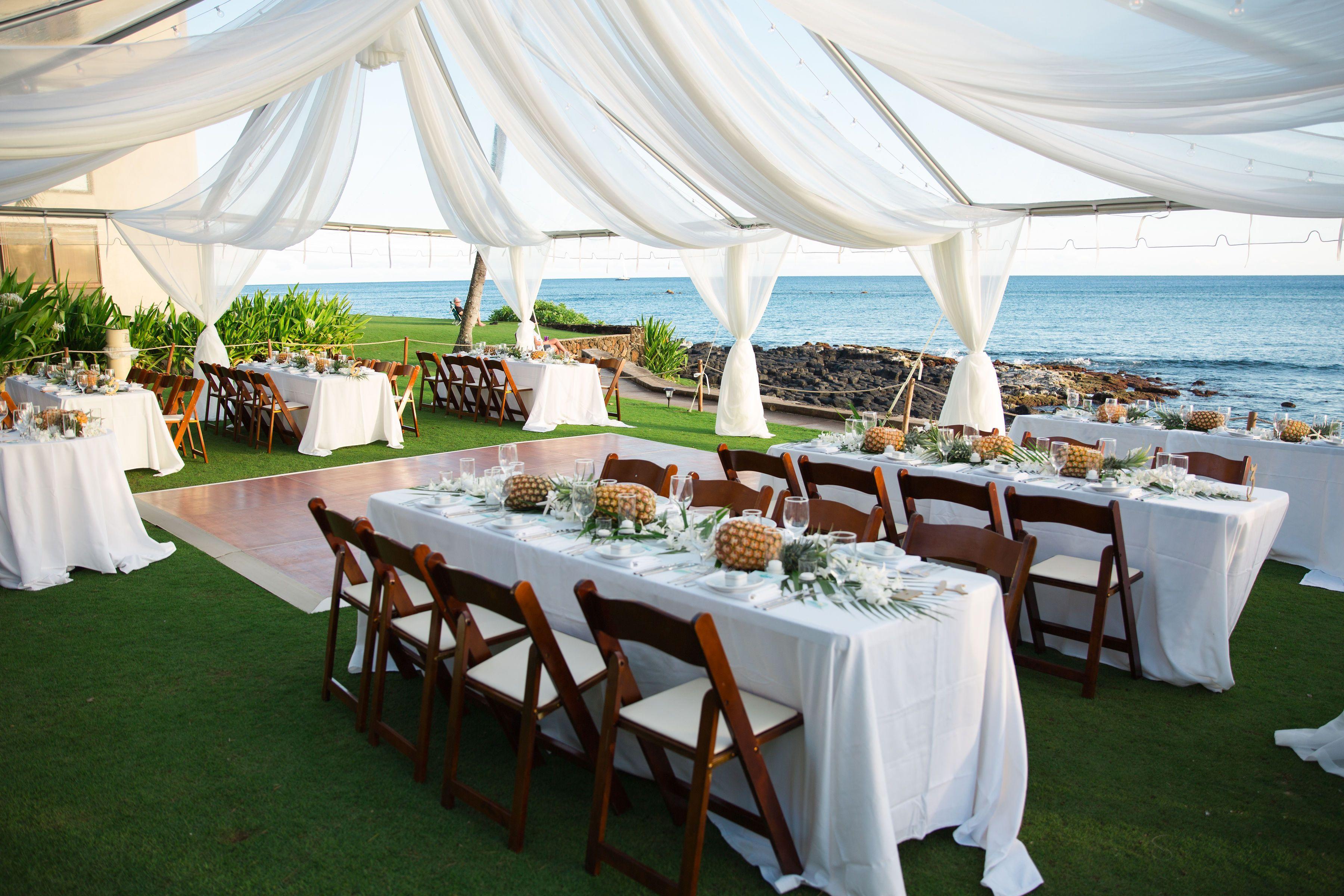 Wedding Receptions At The Beach House Kauai Beach House Restaurant Beach House Kauai Oceanfront Wedding