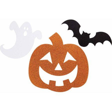Halloween Cutout Assortment, 12-Pack, Assorted Walmart and Products - walmart halloween decorations