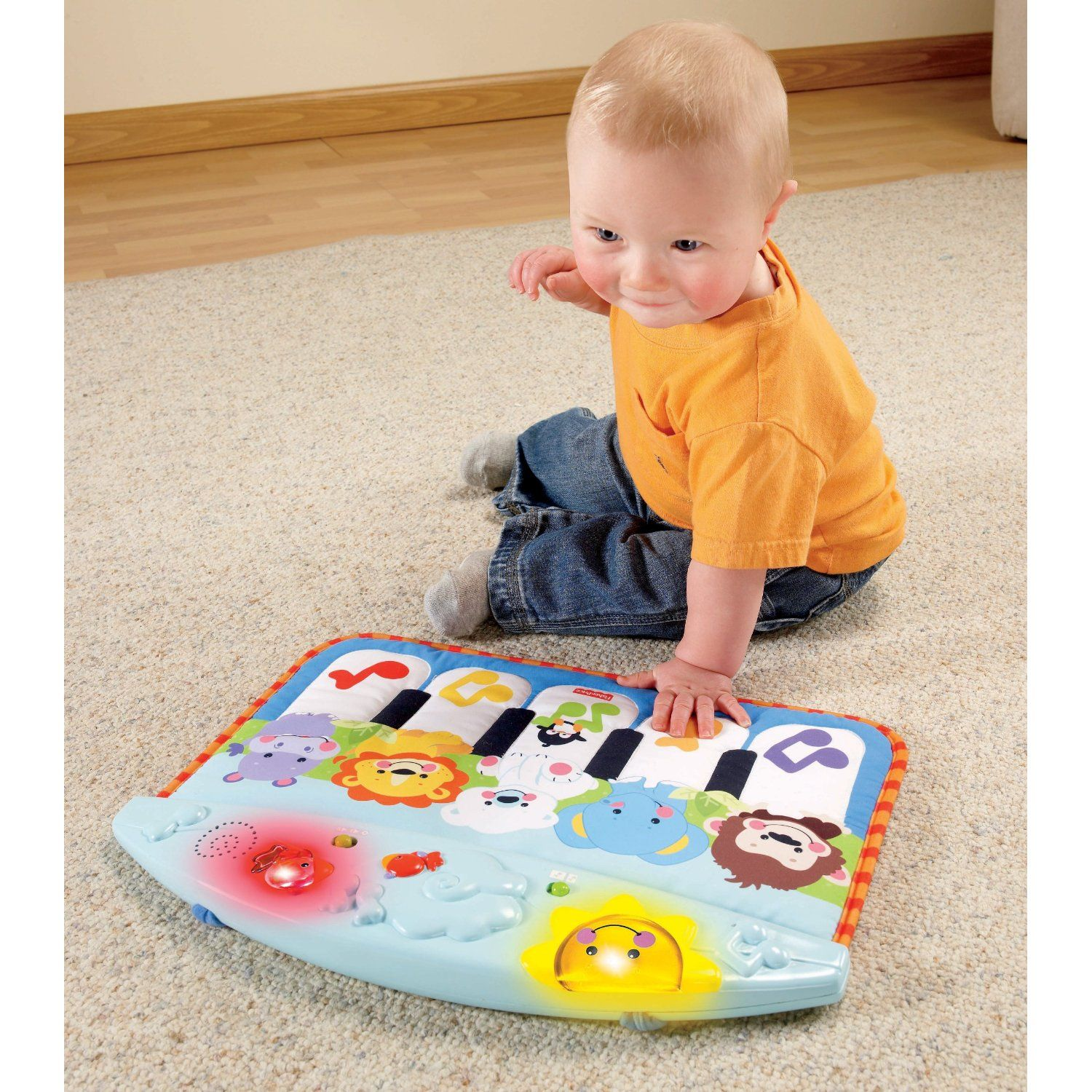 dfa2068311d80 Kick and Play Piano is a long-lasting toy. Tie it up to the playpen ...