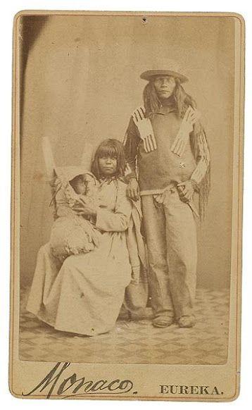 Paiute family - circa 1868