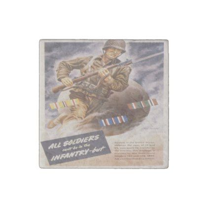 Vintage poster - U.S. Infantry Stone Magnet - classic gifts gift ideas diy custom unique