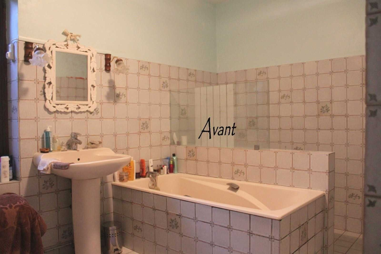 peinture carrelage mural salle de bain