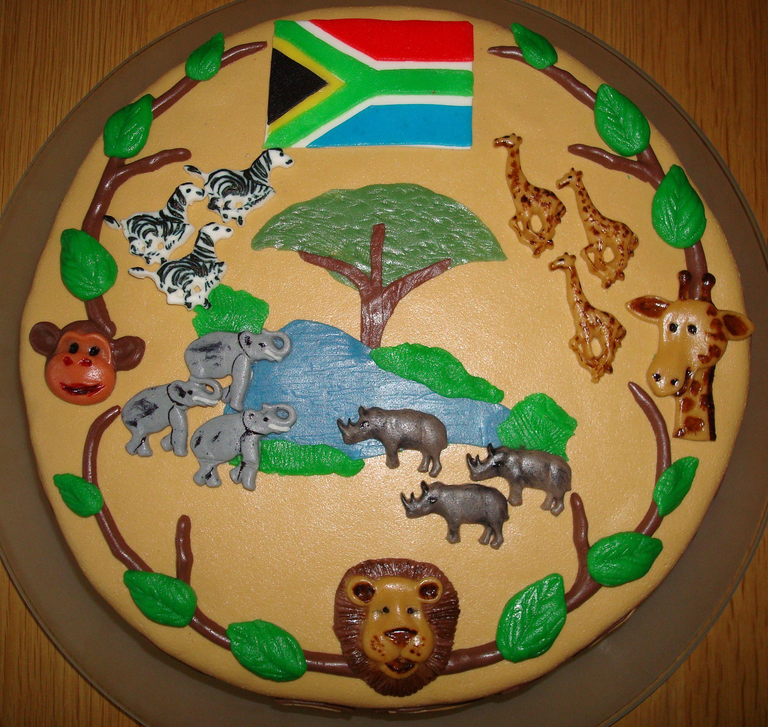 Zuid Afrika Taart In 2019 Taart Mooie Taarten En Afrika
