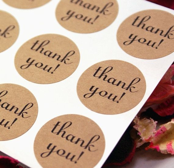 we love thank yous + stickers!
