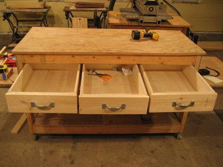 Workbench Drawers Workbench With Drawers Diy Storage Bench