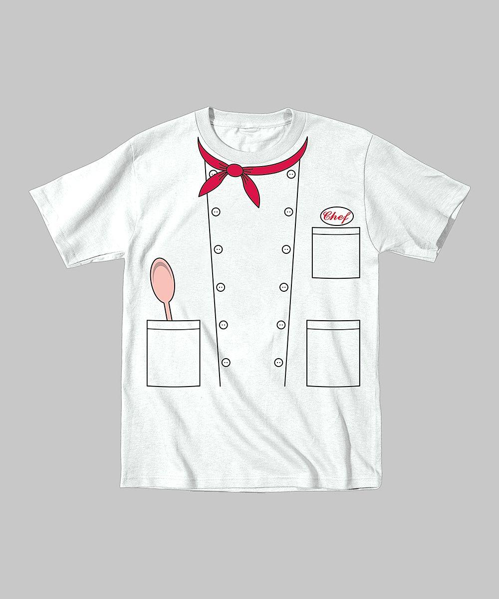 Chef Costume White Youth T-Shirt