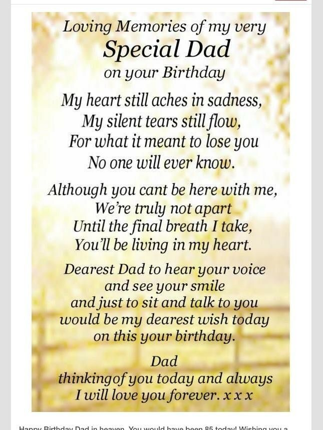 Dad Birthday Heaven Happy Papa In Quotes Heavenly