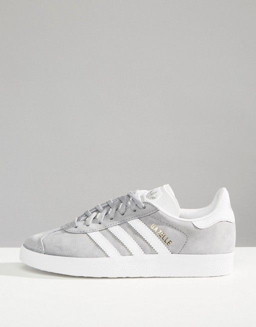 adidas Originals Gray Gazelle Sneakers With Snake Effect
