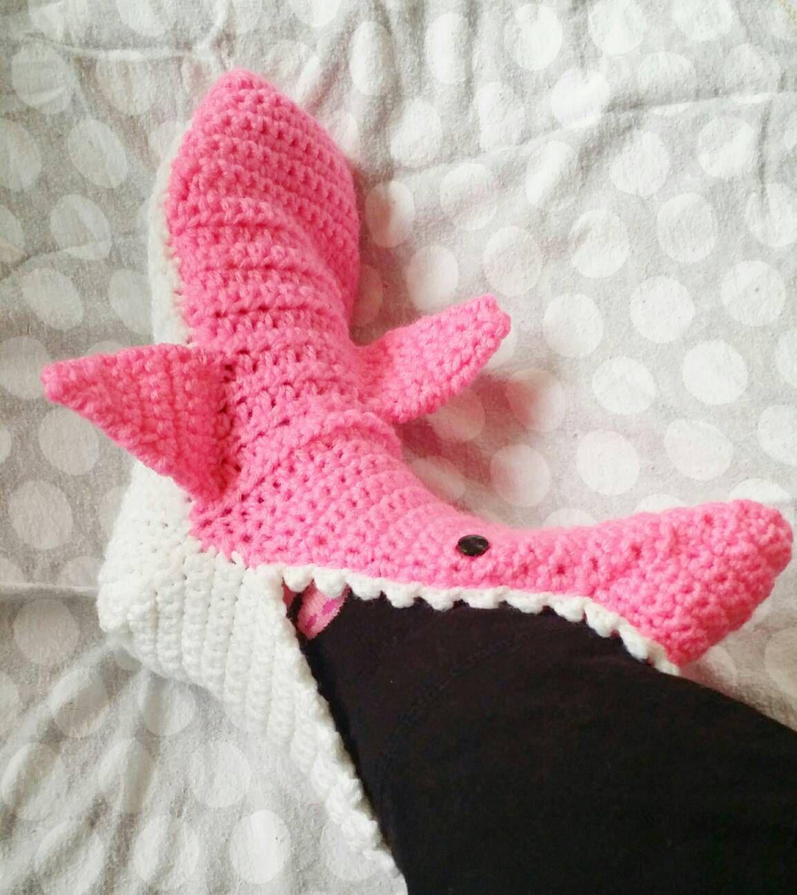 Pink crochet shark slippers shark socks and shark booties youth pink crochet shark slippers shark socks and shark booties adult men and women bankloansurffo Gallery
