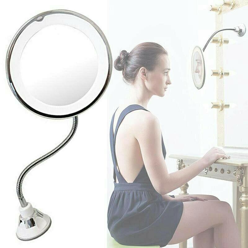 Flexible Gooseneck 6 8 10x Magnifying, Kedsum Flexible Gooseneck 6 8 10x Magnifying Led Lighted Makeup Mirror