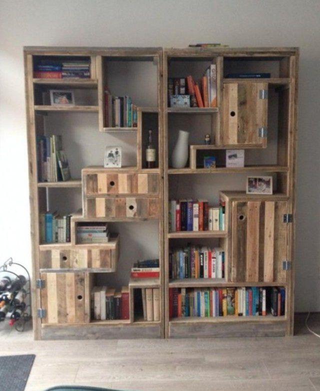 Custom made natural & weathered wood shelf. It's 7 feet tall, 3 1
