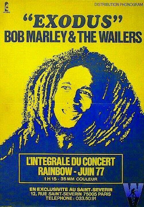 Rainbow 1977 concert poster