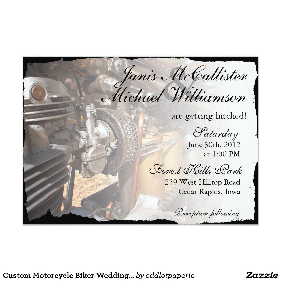 Custom Motorcycle Biker Wedding Invitation   Wedding   Pinterest ...