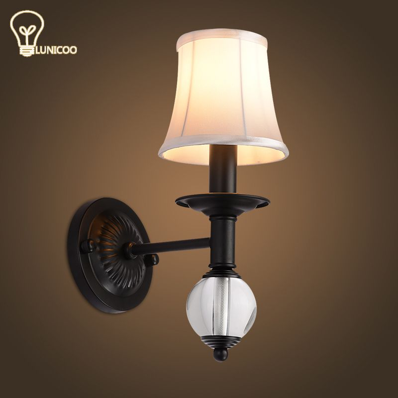 Lunicoo modern wall lights iron lamp body glass lampshade e14 lamp lunicoo modern wall lights iron lamp body glass lampshade e14 lamp holder down freeship for bedroom aloadofball Image collections