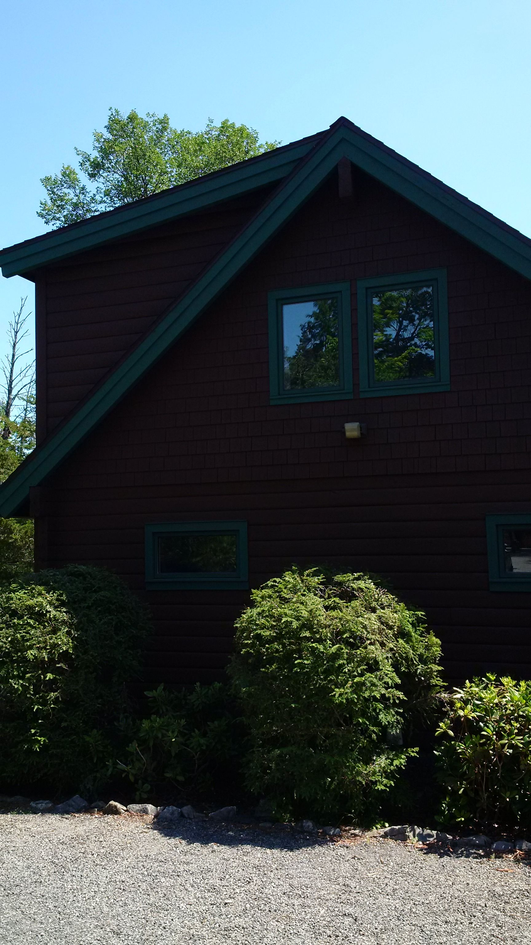 Sherwin Williams solid Woodscapes stain was applied to this ...
